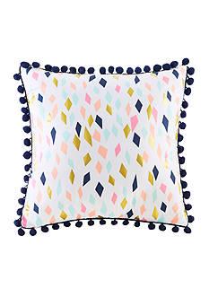 Back to Class Confetti Pom Pom Decorative Pillow