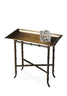 Butler Specialty Company Meiling Antique Brass Tray Table