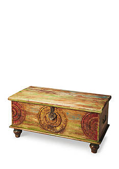 Butler Specialty Company Mesa Carved Wood Trunk Cocktail Table