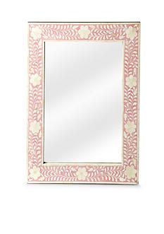 Butler Specialty Company Vivienne Pink Bone Inlay Wall Mirror
