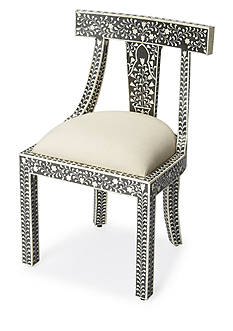 Butler Specialty Company Victorian Garden Black Bone Inlay Accent Chair