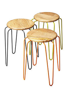 Butler Specialty Company Easton Wood & Iron Stackable Stools