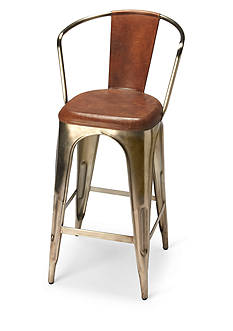 Butler Specialty Company Roland Iron & Leather Bar Stool