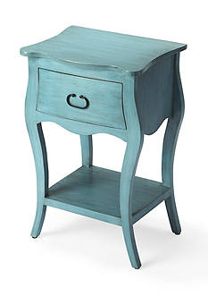 Butler Specialty Company Rochelle Distressed Blue Nightstand