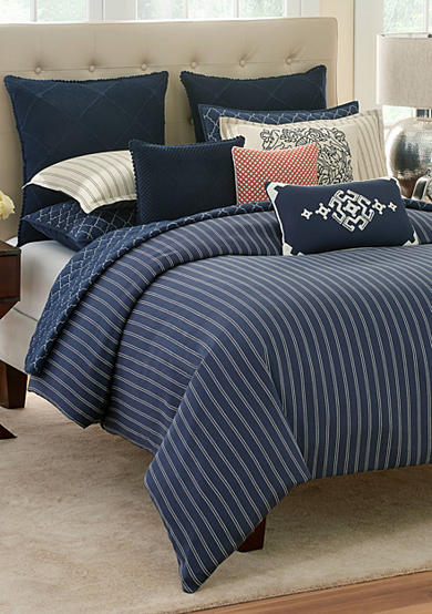 modern southern home dory king comforter mini set 110 in x 96 in belk. Black Bedroom Furniture Sets. Home Design Ideas
