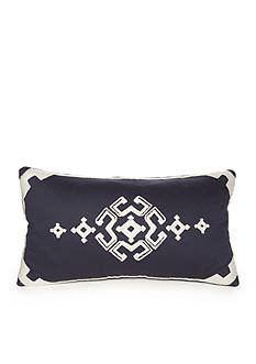 Modern. Southern. Home.™ Dory Navy Embroidered Boudoir Decorative Pillow
