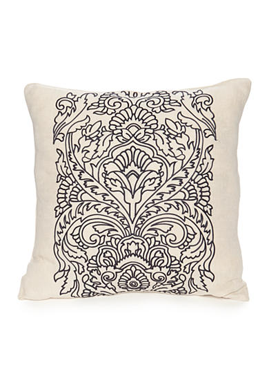 Modern. Southern. Home.™ Dory Crewel Embroidered Navy Medallion Decorative Pillow