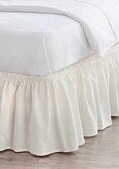 Home Accents® Twin/TwinXL/Full Ivory Ruffle Bedskirt with Dual Fit Technology