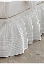 White Pintuck Queen/King Bedskirt 60-in. x 80-in.