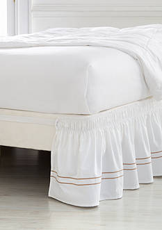 Home Accents Queen/King Double Baratta Stitch Bedskirt With Dual Fit Technology