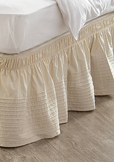 Home Accents® Linen Pintuck Bedskirt with Dual Fit Technology