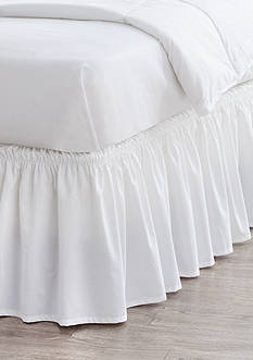 Home Accents® White Ruffle Bedskirt with Dual Fit Technology