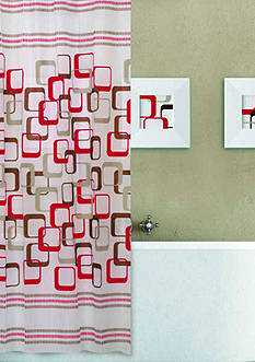 Dainty Home Abstract 13 Pieces Shower Curtain Set