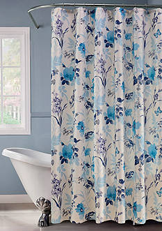 Dainty Home Lurex Botanical Garden Shower Curtain