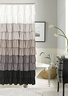 Dainty Home Flamenco Ruffled Shower Curtain
