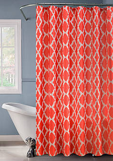 Dainty Home Lurex® Lattice Shower Curtain