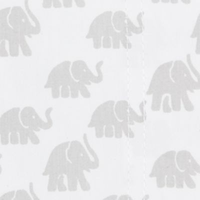 400-500 Thread Count Sheets: Light Gray Elephant New Directions 350 Thread Count Soft Twill Solid Queen Sheet Set