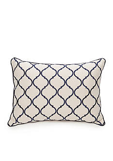 Biltmore Chateau Ogee Embroidered Oblong Decorative Pillow