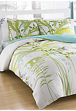 Mixed Floral Multi Green Twin Comforter Set 86-in. x 66-in.