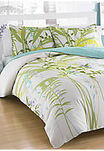 Mixed Floral Multi Green King Comforter Set 96-in. x 110-in.