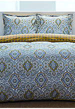 Milan Grey Multi Full/Queen Comforter Set 96-in. x 92-in., Standard Shams 20-in. x 26-in.