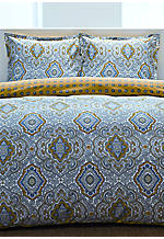 Milan Grey Multi Twin Duvet Set 88-in. x 68-in., Standard Sham 20-in. x 26-in.
