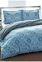 Milan Blue Full/Queen Duvet Set 88-in. x 88-in.