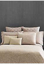 Bamboo Leaves Grey Putty Basket Weave Euro Sham 26-in. x 26-in.