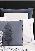 Shibori Diamond Medium Blue Euro Sham 26-in. x 26-in.