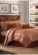 Prince of Paisley Cinnabar King Comforter Set 96-in. x 110-in.