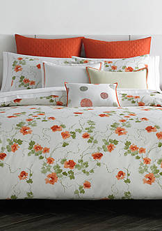 Vera Wang VW ORANGE BLSSMS KING DUVET SET