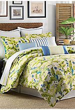 Blue Palm California King Comforter Set 96-in. x 110-in.