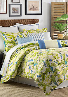 Tommy Bahama Blue Palm King Duvet Set