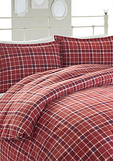 Laura Ashley Highland Check Flannel Comforter Set