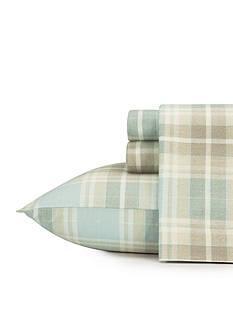 Laura Ashley Cranbourne Plaid Flannel Sheet Set