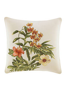 Tommy Bahama Rio de Janeiro Floral Embroidered Decorative Pillow