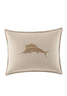 Tommy Bahama Shoreline Embroidered Marlin Logo Breakfast Pillow