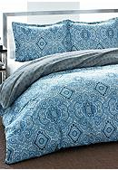 City Scene Not Neutral Milan Blue Duvet Set