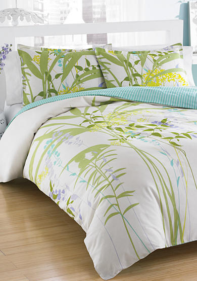 City Scene Not Neutral Mixed Floral Comforter Set - Online Only