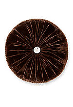 Lansing Chocolate Round Decorative Pillow 14-in.