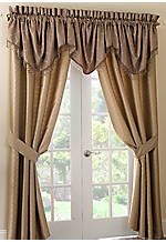 Hazeldene Taupe Window Swag Valance 28-in. x 50-in.