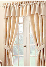 Lysander Ivory Scalloped Window Valance 55-in. x 19-in.