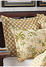 Catesby Palms Natural Bamboo Print Euro Sham 26-in. x 26-in.