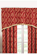 Meriwether Red Valance 66-in. x 18-in.
