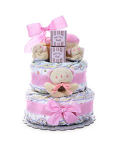 The Gifting Group Baby Cakes Two-Tier Diaper Cake - Girl