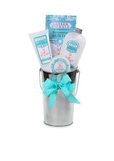 The Gifting Group Water Lilies French Flower Bucket