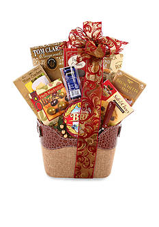 The Gifting Group Burlap Picnic Basket
