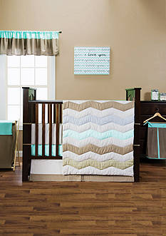 Cocoa Mint Baby Bedding Coordinates