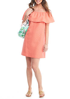 Crown & Ivy™ Tonal Dot Woven Dress and Scenic Print Tote