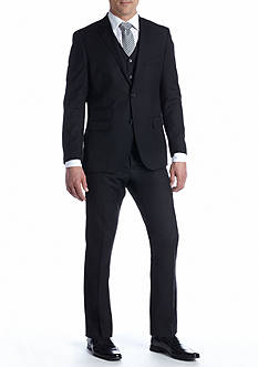 Savile Row Fitted Solid Suit Separate Coat, Suit Separate Vest & Solid Suit Separate Pants